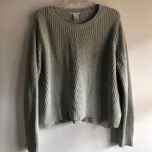 H&M cropped seafood sweater